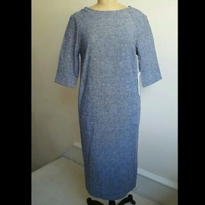 Anthro sam&lavi cotton linen dress